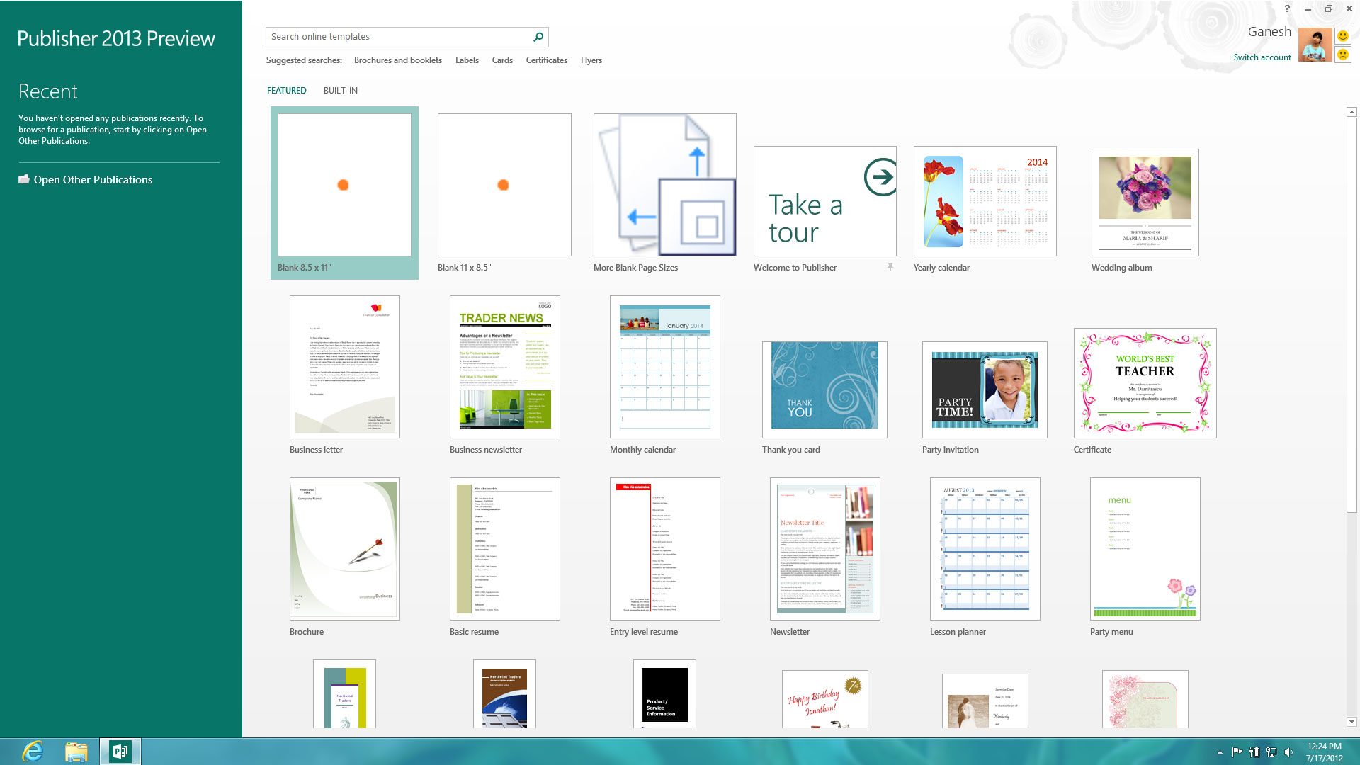 22-Office-Publisher-2013-Customer-Preview-Home-Screen